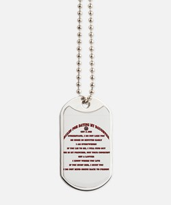 Dads Against Daughters Dating Rules Dog Tags