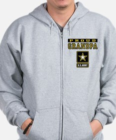 Proud Grandpa U.S. Army Zip Hoody