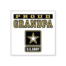 "Proud Grandpa U.S. Army Square Sticker 3"" x 3"""
