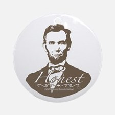 Honest Abe Lincoln Ornament (Round)