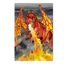 Red Dragon Postcards (Package of 8)