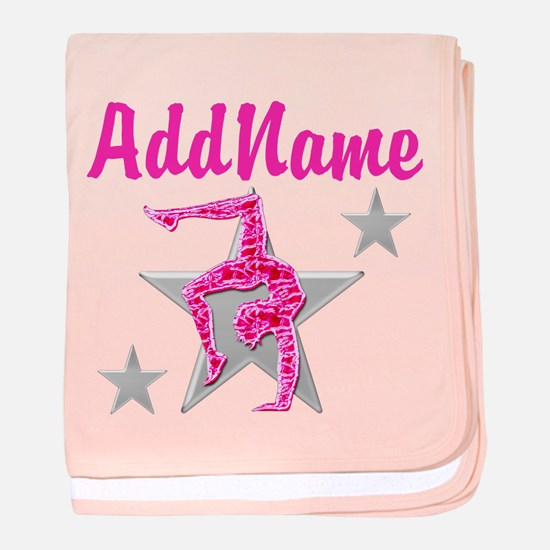 GORGEOUS GYMNAST baby blanket