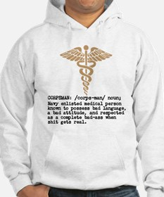 Corpsman definition (olive drab) Hoodie