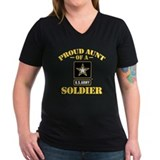 Army aunt Womens V-Neck T-shirts (Dark)