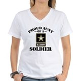 Army aunt Womens V-Neck T-shirts
