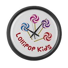 Lollipop Kids Large Wall Clock