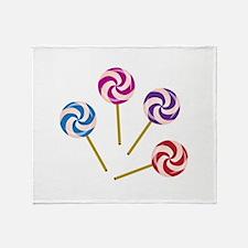 Lollipops Throw Blanket
