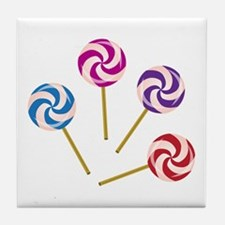 Lollipops Tile Coaster