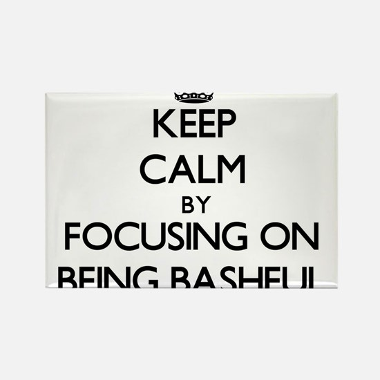 Keep Calm by focusing on Being Bashful Magnets