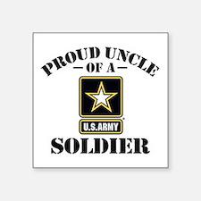 "Proud Uncle U.s. Army Square Sticker 3"" X 3&q"