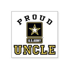"Proud U.S. Army Uncle Square Sticker 3"" x 3"""