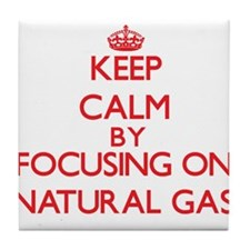 Keep Calm by focusing on Natural Gas Tile Coaster