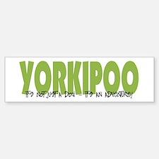 Yorkipoo ADVENTURE Bumper Bumper Bumper Sticker
