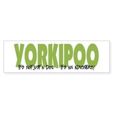 Yorkipoo ADVENTURE Bumper Bumper Sticker