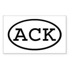 ACK Oval Rectangle Decal