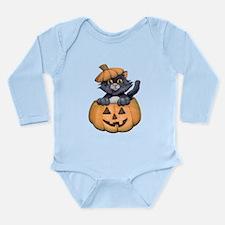 Kitty in a Pumpkin Body Suit