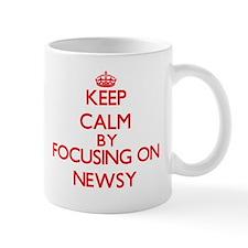 Keep Calm by focusing on Newsy Mugs