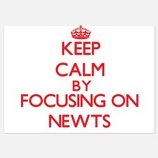 Keep Calm by focusing on Newts Invitations