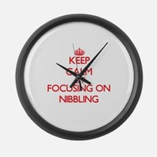 Keep Calm by focusing on Nibbling Large Wall Clock