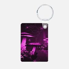 Glowing Purple Mushrooms Keychains