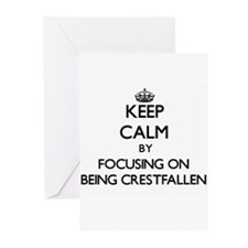 Keep Calm by focusing on Being Cres Greeting Cards