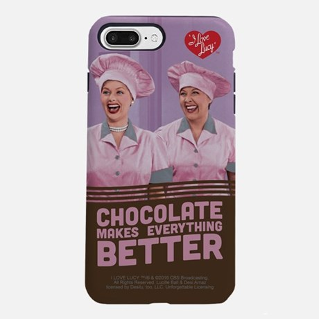 I Love Lucy Chocolate Makes Eveything Better iPhone 7 Case