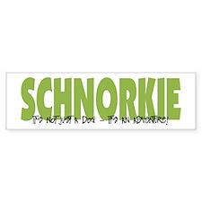 Schnorkie IT'S AN ADVENTURE Bumper Bumper Sticker