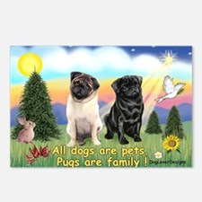 Pugs are Family (2) Postcards (Package of 8)