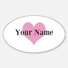 Pink heart and personalized name Bumper Stickers