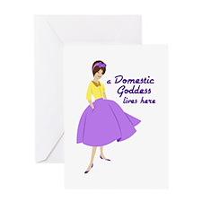 Domestic Goddess Greeting Cards