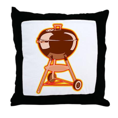 Hot Grill Throw Pillow