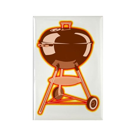 Hot Grill Rectangle Magnet