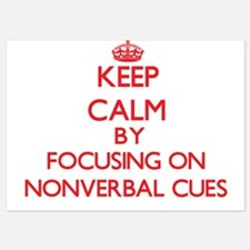 Keep Calm by focusing on Nonverbal Cue Invitations