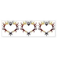 Flame'n BEAR Love - Bumper Bumper Sticker