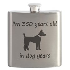 50 dog years black dog 1C Flask