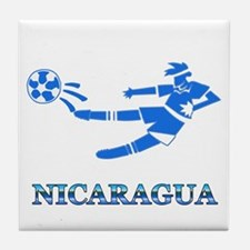 Nicaragua Soccer Player Tile Coaster