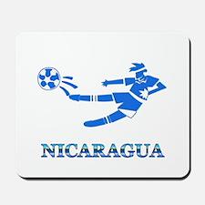 Nicaragua Soccer Player Mousepad