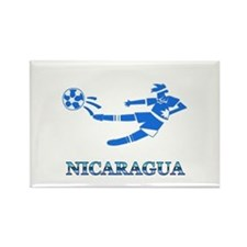 Nicaragua Soccer Player Rectangle Magnet