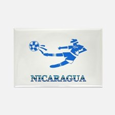 Nicaragua Soccer Player Rectangle Magnet