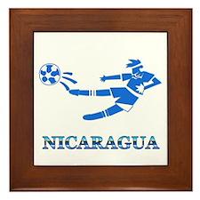 Nicaragua Soccer Player Framed Tile