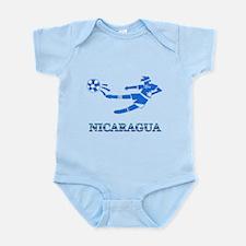 Nicaragua Soccer Player Infant Bodysuit