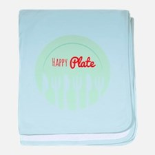 Happy Plate baby blanket