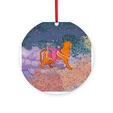 Carousel Tiger Round Ornament