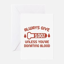 Always Give 100 Percent Greeting Cards (Pk of 20)