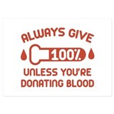 Blood donation 5 x 7 Flat Cards