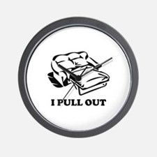 I Pull Out Wall Clock