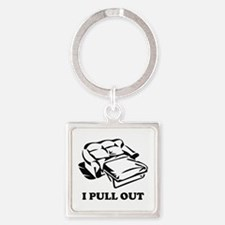 I Pull Out Square Keychain