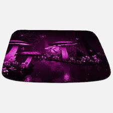 Glowing Purple Mushrooms Bathmat