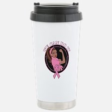 Breast Cancer We Can Do Travel Mug