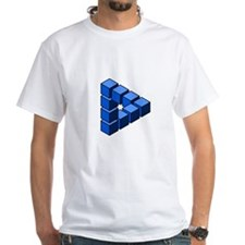 Impossible construction triangle of blocks T-Shirt